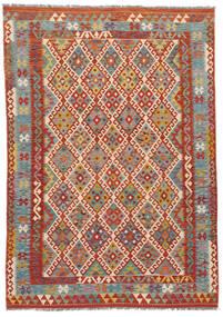 Kilim Afgan Old Style Dywan 186X253 Orientalny Tkany Ręcznie (Wełna, Afganistan)